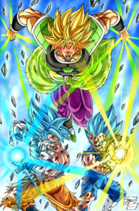 Goku Vegeta and Broly