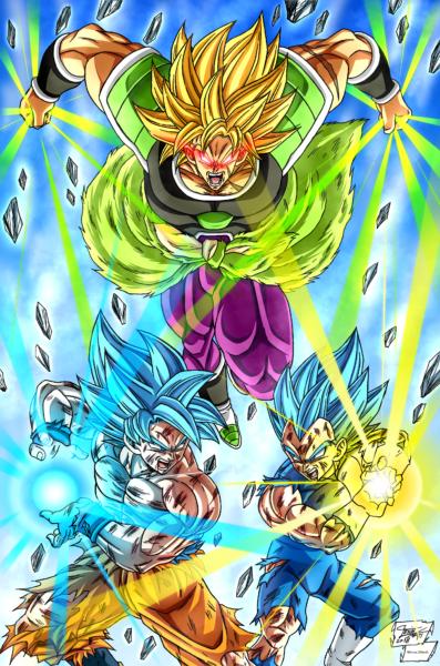 Goku Vegeta and Broly