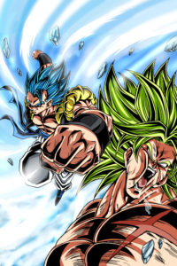 Gogeta punch Broly Holo