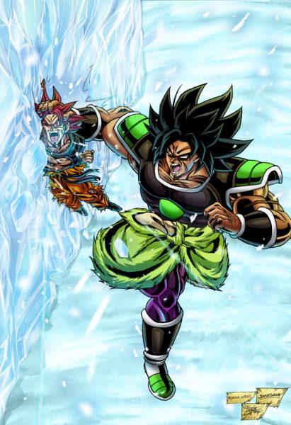 Broly Goku Ice Holo
