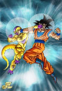 Goku vs Gold Freeza