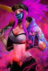 KDA Akali Mask Holo