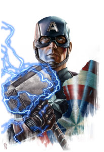 Captain America Hammer Holo