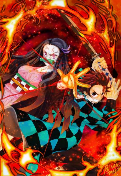 Demon Slayer –  Tanjiro Nezuko Holo